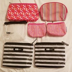 Lot of 7 cosmetic bags